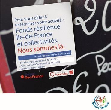 Affiche Fonds Résilience Ile-de-France