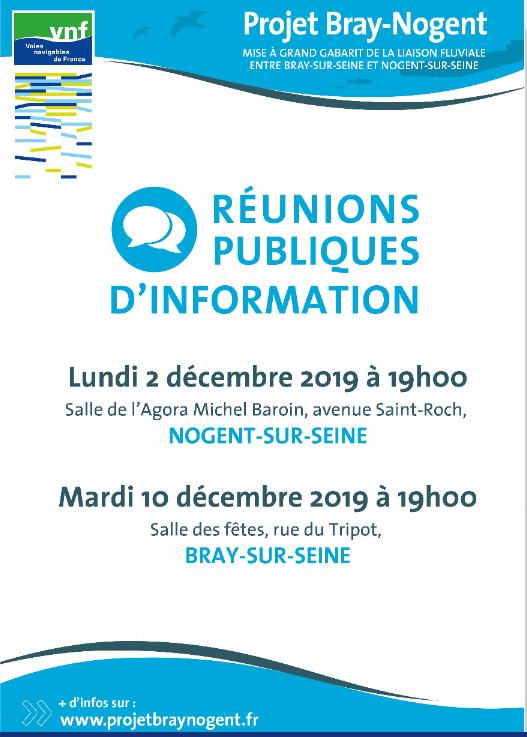 Affiche de la réunion publique du projet Bray-Nogent 2019