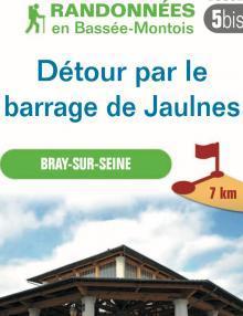 """Image du dépliant """"Détour par le barrage de Jaulnes"""""""